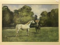 """TOM CARR """"Tan-Wen"""", study of a pony, watercolour heightened with white, signed and dated 1976, image"""