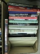 Two boxes of assorted books mainly on Interior Design, etc
