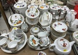 """A large collection of Royal Worcester """"Evesham"""" pattern dinner and kitchen wares including seven"""