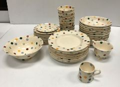 A collection of Emma Bridgewater polka dot dinner