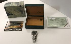 A gents stainless steel cased Rolex Oyster Perpetu
