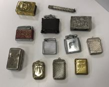 A collection of various small items to include a Ronson Viking cigarette lighter, a Colibri