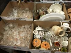 Four boxes of assorted sundry china etc, to includ