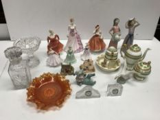 A collection of three Lladro figures comprising two girls with hats height approx. 26 cm each and