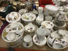 """WITHDRAWN A collection of Royal Worcester """"Evesham"""" pattern dinner and tea wares to include two oval"""