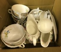 A collection of Royal Doulton Arcadia dinner and tea wares, to include dinner plates, two tureens,