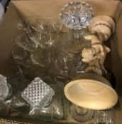 Five boxes of assorted sundry china, to include collectors' plates, Aynsley trinket boxes,