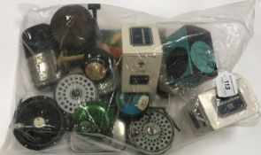 A collection of miscellaneous items to include three Hardy fishing reel boxes, an Olympic fly