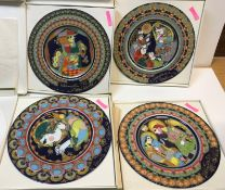 A collection of four Rosenthal Bjørn Wiinblad Christmas plates 1973 and 1975, all boxed Condition
