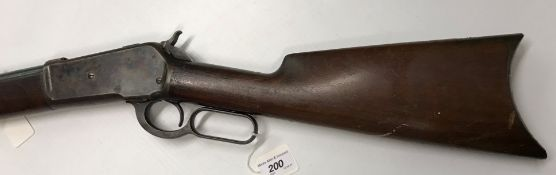 A Winchester model 1886 lever action sporting rifle with 26 inch round barrel 45-70 calibre (No.