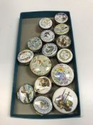 """A collection of Crummles enamel boxes including """"Apothecary equipment"""", limited edition No'd. 2, 6"""