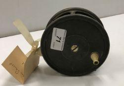 "An Ogden Smiths 4½"" alloy salmon fly reel"
