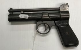 "A Webley & Scott Ltd ""The Webley Junior"" .177 air pistol with hatched plastic grip No'd 873"