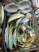 Two boxes of assorted Carlton ware items to include trinket dishes, five section flower head