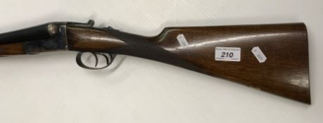 "An L.I.G Elgoibar 12 bore shotgun, double barrel, side by side, box lock, ejector, 27.5"" barrels ("