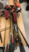 A collection of modern golf clubs including a Precision AV61 Golden Bear wood x 3, Proforce 65 ATR