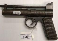 "A Webley & Scott Ltd ""The Webley Junior"" .177 air pistol, painted metal grip No'd J12550"