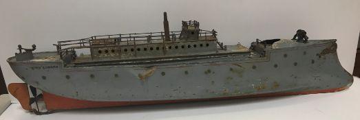 "A 1905 Bing of Germany model ship ""King Henry"" 74 cm long"