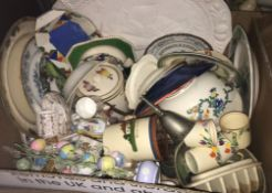 """Five boxes of assorted china wares to include Minton's """"Haddon Hall"""", Royal Doulton """"Paisley"""","""