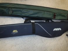 Two fisherman's holdalls a Team Milo Classic Collection and an Efgeeco zipped rod holdall