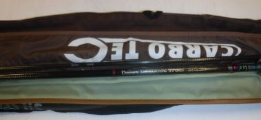 A collection of eight assorted fly fishing rods by Daiwa, Silstar, Leeda (x 2), a Carbotech fly rod,