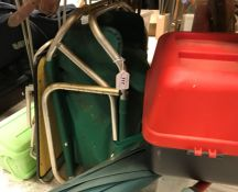"""Two Efgeeco """"Pakaseat"""" fisherman's seat boxes containing a mixed quantity of miscellaneous tackle"""