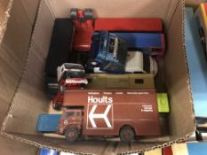 A collection of Corgi and other model vehicles to include various buses, a Van Hoolt 9 Caelloi