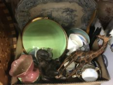 """Four boxes of sundry china wares to include Royal Worcester """"Evesham"""" pattern dinner wares,"""