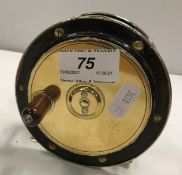 """A Perth style 41/4"""" salmon fly reel with nickel silver rim"""