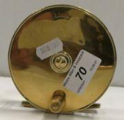 """An A. Allan 4"""" brass plate wind reel"""