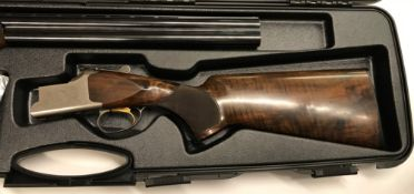 """A Browning SG 12 bore shotgun, double barrel, over and under, 28"""" barrels (No. 71512), together with"""