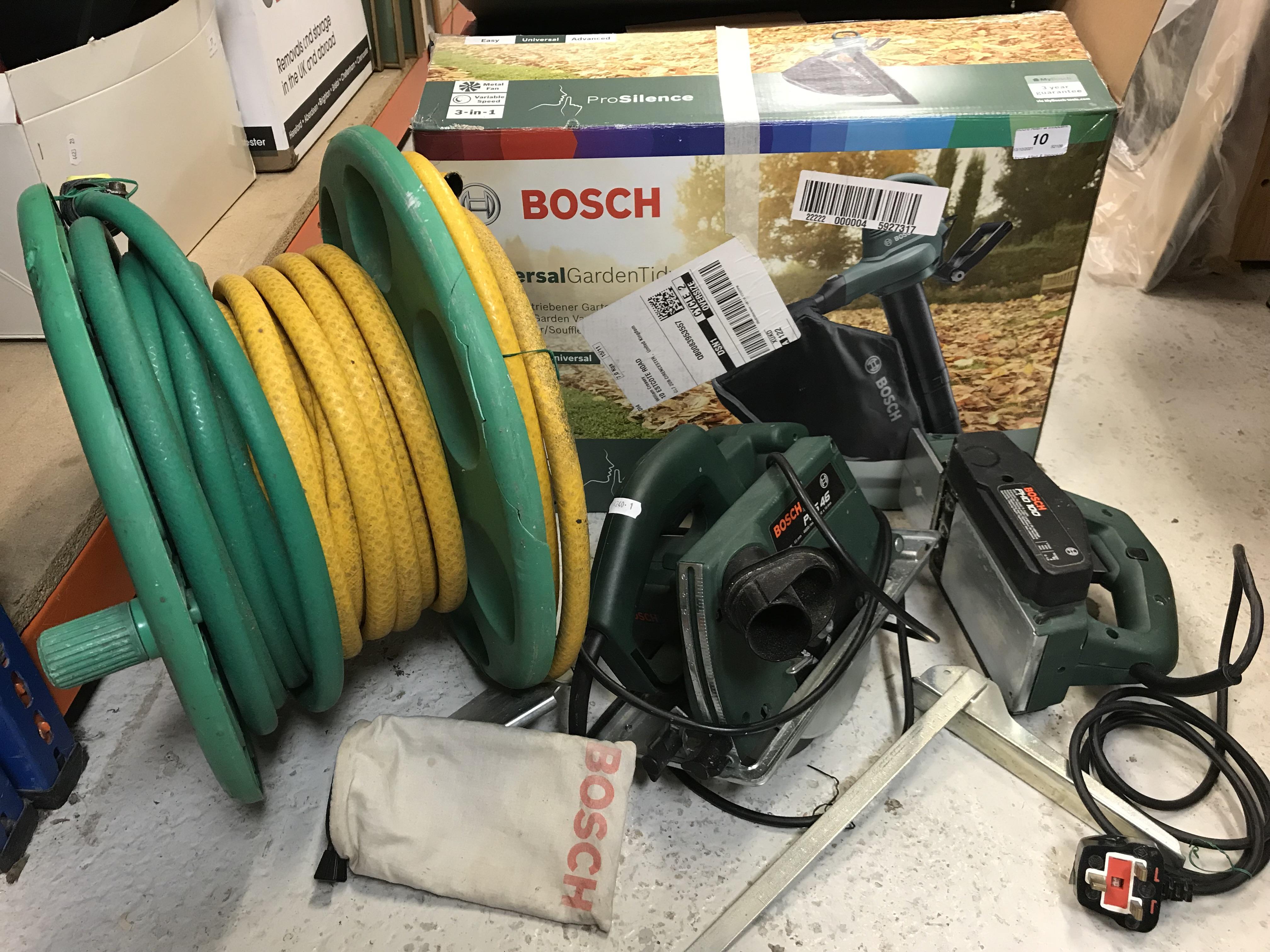 A Bosch universal garden tidy/leaf blower,