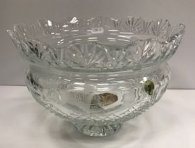 """A Waterford Crystal """"Kings"""" trophy bowl inscribed """"Guinness Special Festival Award Channel 4 Racing"""