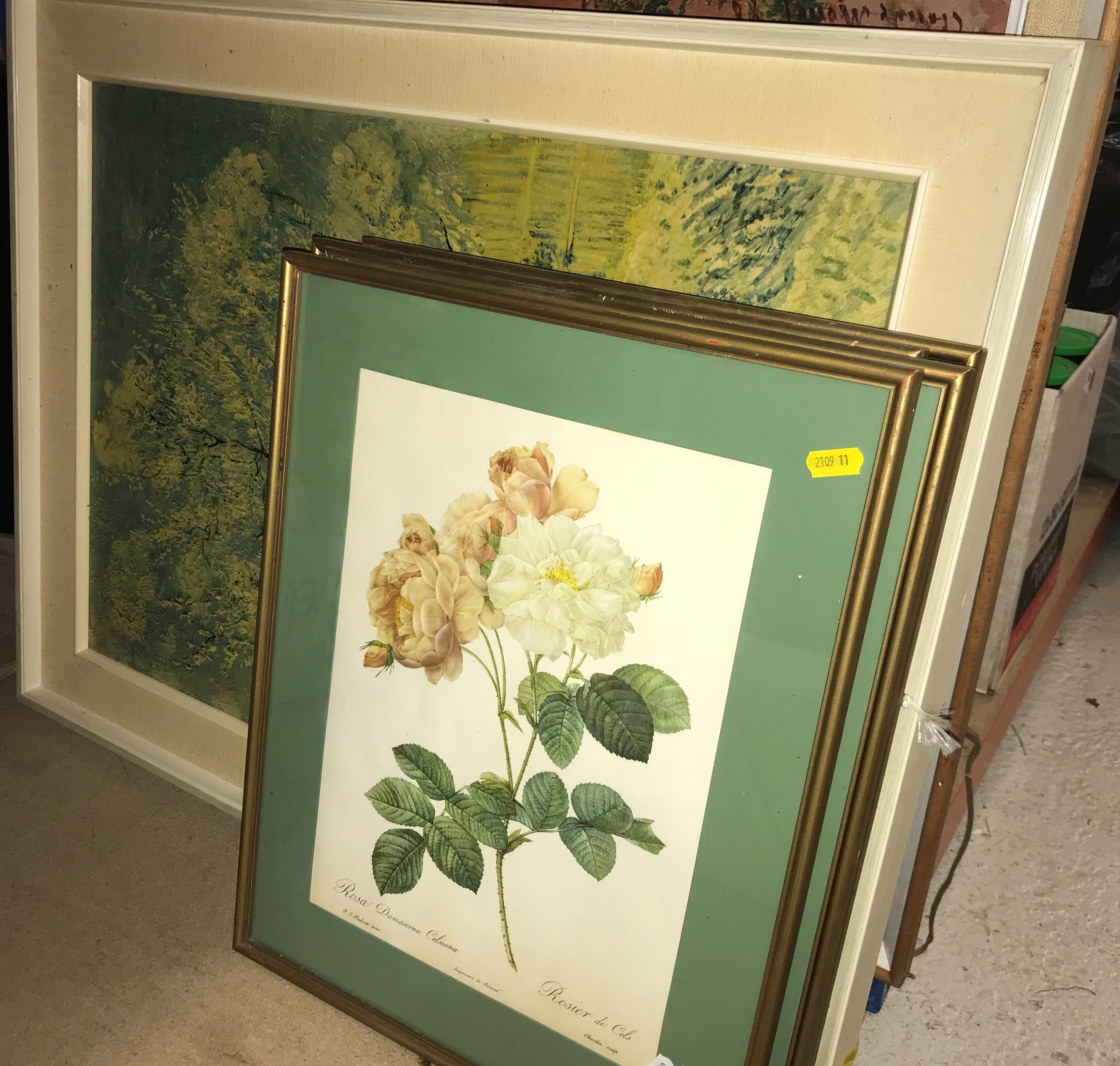 A box and collection of various prints (28) and a box of various hats including Austin Reed soft - Image 4 of 4