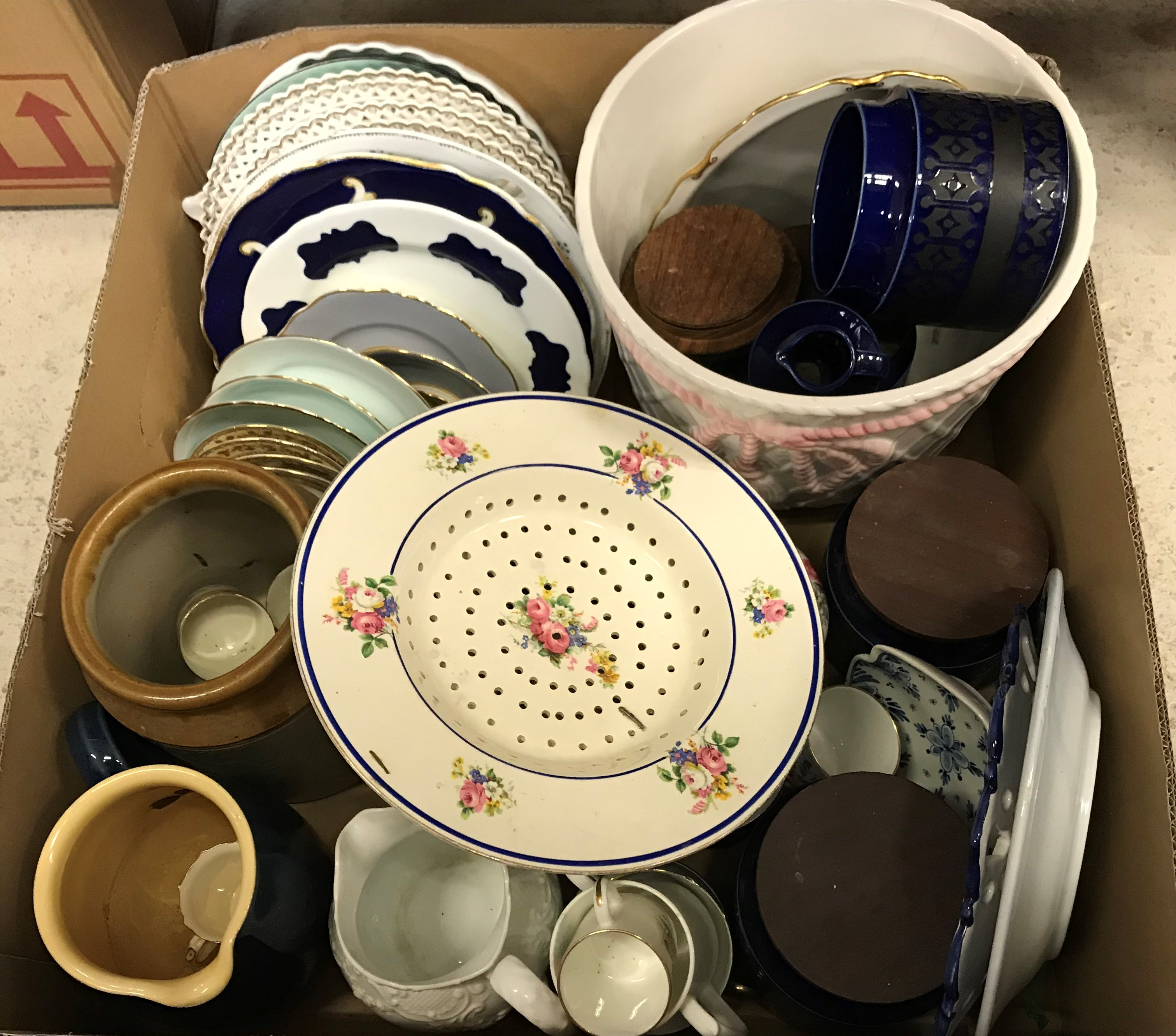 Three boxes of various china wares to include Royal Worcester Harvest Ring tea wares, - Image 3 of 3