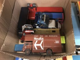 A collection of Corgi and other model vehicles to include various buses,
