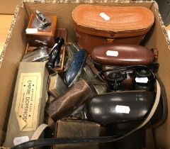 A collection of sundry items to include a Kowa Kowaflex camera, a Kodak Retinette IB camera,