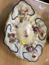 A collection of various 19th Century Derby china wares including a pair of pear-shaped floral