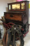 A late 19th Century Pesaresi Son & Spinelli street barrel organ with ten tunes (English tunes) on
