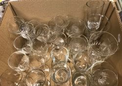 A box of assorted 19th Century and later glassware