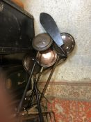 Four various 19th Century copper warming pans, an