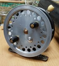A 1930's Hardy Super Silex fly reel by Hardy Bros Limited of Alnwick 10 cm