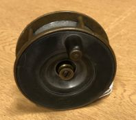 A Struan Patent alloy and brass fly reel, retailed by Robertson's of Glasgow 9 cm