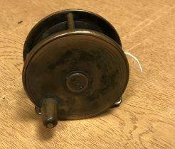 A Robertson of Glasgow brass trout fly reel 7.5 cm