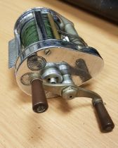 "A Hardy ""Elarex"" chrome plated multiplying fishing reel 6.5 cm"