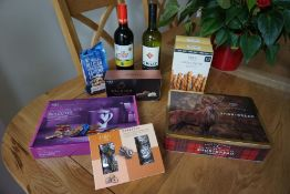 Wine and treats hamper-gifted by Marks & Spencer Foodhall,