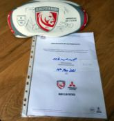 Gloucester Rugby 2019/20 season ball signed by Gloucester Rugby squad-gifted by Mitsubishi