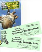 Tickets to Cotswold Wildlife Park & Gardens Burford-gifted by Reggie Heyworth,