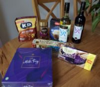 Wine and treats hamper-gifted by McColl's,