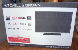 """Mitchell & Brown 32"""" Smart HD TV-gifted by Gardiner Haskins"""
